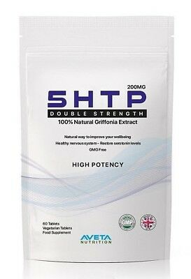 Premium HIGH POTENCY 5HTP 200mg 90 Helps Depression,Stress, Anxiety Tablets