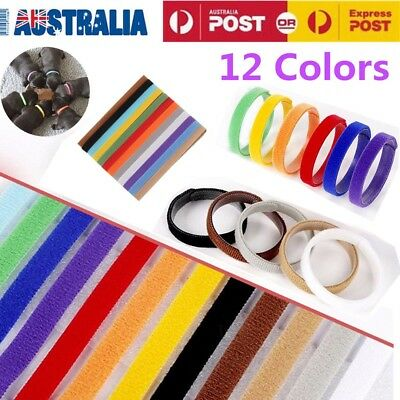 12x Whelping ID Collar Bands Pet Puppy Kitten Identification Collar Tags AU