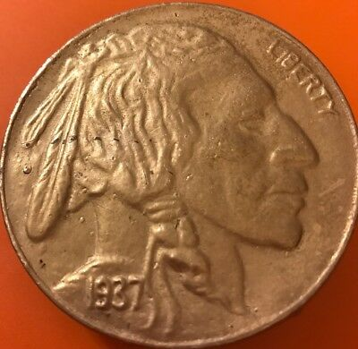 Vintage Buffalo Head Nickel Liberty Belt Buckle
