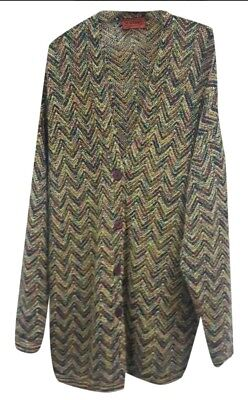 Missoni Cardigan Maglione Blazer Vintage Wool 80s 90s made in Italy