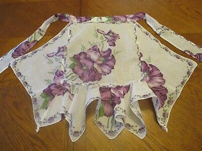 Vintage Handmade Apron from Ladies Handkerchiefs