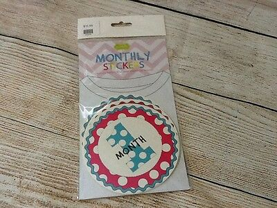 Mud Pie Monthly Stickers Quantity 12 NIP