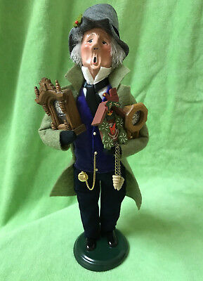 """Byers Choice Carolers The """"CLOCK MAKER"""", 2009 Edition VGC"""