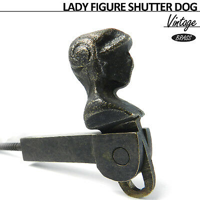 Window Shutter Vintage French Cast Iron Shutter Dog Holder Lock Hook