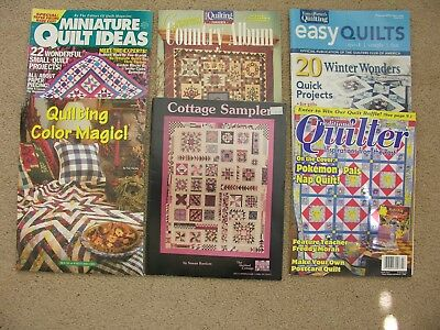 Lot Of 6 Quilting Booklets And Magazines, Some 1900's, Others 2000's