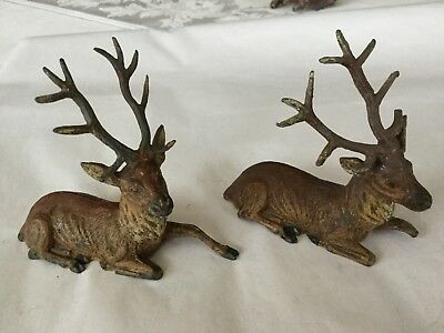 Antique  C 1930's Pot Metal Reindeer Stag Deer Christmas Putz Made Germany No 6
