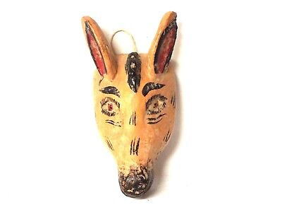 Small wooden Donkey face mask - Mexican Folk Art Guerrero