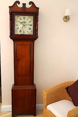Antique longcase clock 18th century 30hr Daventry j Nicholas C1805 restored