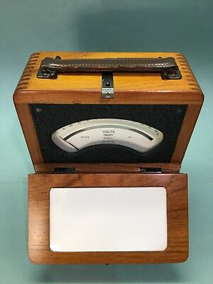 Fabulous Quality Vintage Elliott Volt Meter In Superb Walnut Case