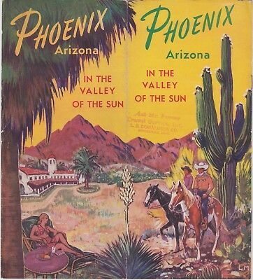 Ca. 1940'S Phoenix Travel Brochure / Great cover, full of pictures, ++ condition
