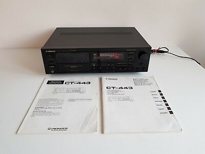 Pioneer CT-443Stereo Cassetten Deck Dolby HX Pro 2-Motor * Top zustand *