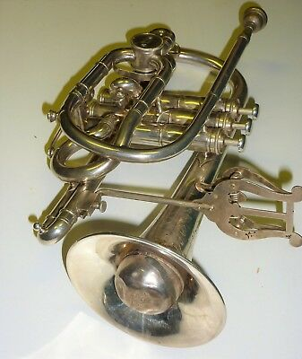 20th Cent. Boosey & Co. ACME Model SOLBORN Bb / A Silverplated Cornet