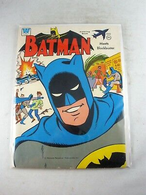 VINTAGE Batman Meets Blockbuster 1966 Whitman Coloring Book