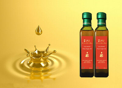 Pure Premium 100% Moroccan Culinary Argan Oil, Edible, Certified Organic, 250ML