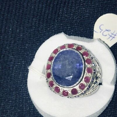 Natural Neelam BLUE SAPPHIRE With Ruby Around