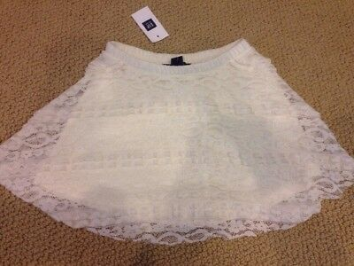 Gap Kids Nwt 4 5 Cream Lace Fancy Holiday Skirt