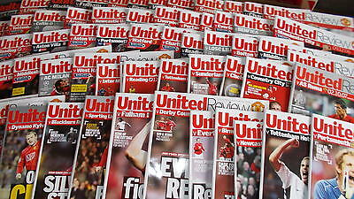 Manchester United Home Football Programmes 2006-2008