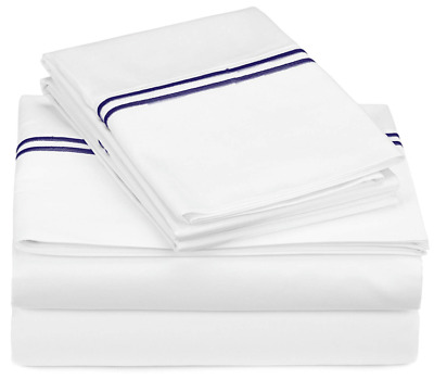 Pinzon 400-Thread-Count Egyptian Cotton Sateen Hotel Stitch Sheet Set - Full