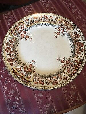 Plate English Antique With Gold