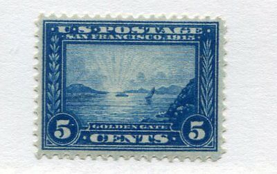 1913 U.S. Scott #399 Five Cent Panama-Pacific Expo Stamp Mint Never Hinged