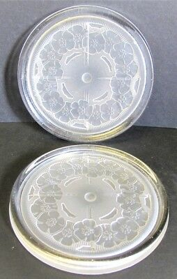 Fine pair of Art Deco period French crystal glass wine coasters by Sevres