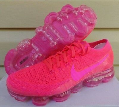 buy online 08436 70e9e NEW NIKE WOMEN'S Air VaporMax Flyknit Hyper Punch Hot Pink 849557-604