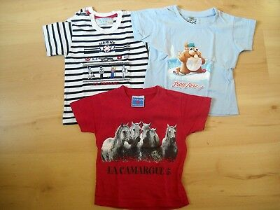 Lot 3 t-shirts manches courtes taille 24 mois TBE