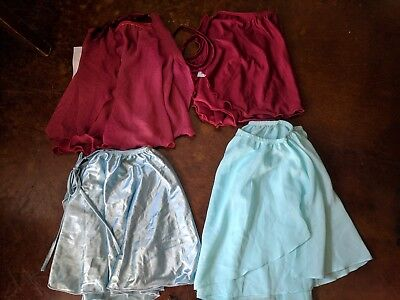 NWT Adult Chiffon SelfTie Wrap Ballet Skirts Colors avail:Burgundy and Soft blue
