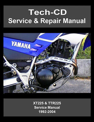 yamaha xt225 ttr225 service & repair manual serow 225 1992-2004