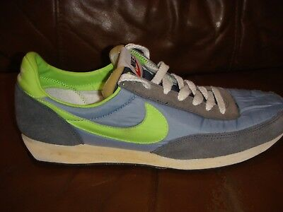 NIKE ELITE VINTAGE WAFFLE Trainers BLUE GREEN Size 8