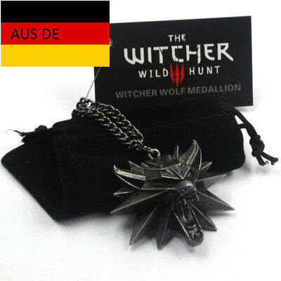 The Witcher 3 Wild Hunt Medallion Kette  / Anhänger / Game PS4 XBOX PC / NEU
