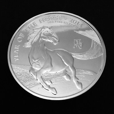 2014 Royal Mint Lunar Year of the Horse 1oz .999 Fine Silver LOW MINTAGE RARE