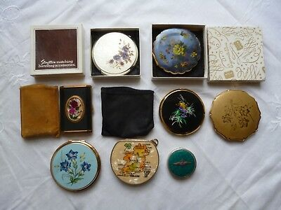 Lot of Assorted Original Vintage 1940s 50s 60s 70s Powder Compacts