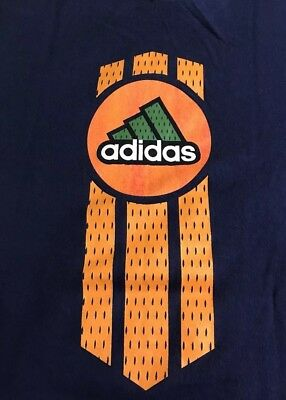b92ab6e45 Vintage 90s Blue Adidas 3 Stripe NBA Basketball T-Shirt Made in USA Size  Large