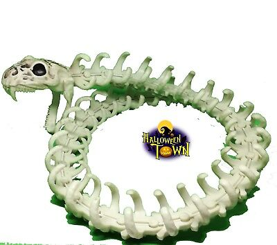 Halloween Skeleton Python Snake From Hell  50 CM Long Movable Head Jaw Body