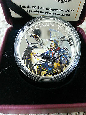2014 $20 Fine Silver Coin Legend of Nanaboozhoo Royal Canadian Mint