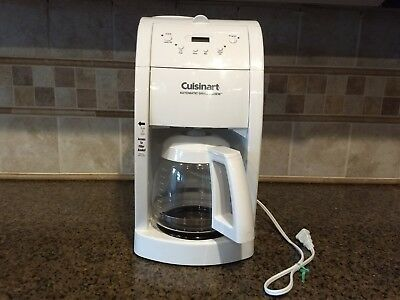 Cuisinart Grind and Brew 10 Cup Automatic Coffee Maker White Model DGB-475 white
