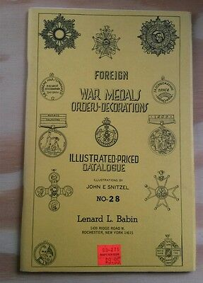 Foreign War Medal Orders Decoration illustrated catalog guide 28