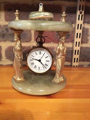 Vintage German Europa Onxy Mantle Clock