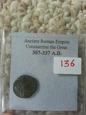 Ancient Roman Empire Coin 307-337 Constantine the Great