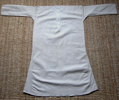 """2 x Vintage French Rustic Smocks Handwoven Linen Monogram LF cosplay XL chest48"""""""