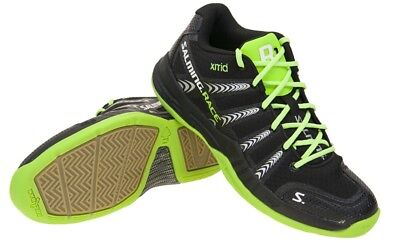 Salming Race R1 Mid Black/Green Mens shoes