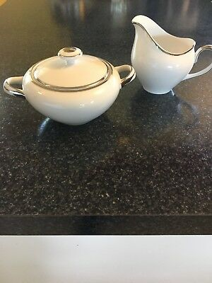 Harmony House- Moderne- Cream And Sugar Set- Fine China- Made In Japan
