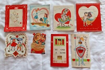 REDUCED Vintage valentines 1940s  Lot of 21 scouts, fold-outs, dog, ducks