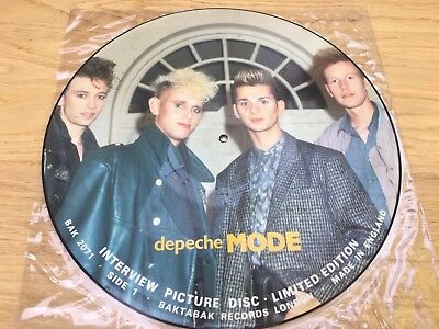 Limited Edition Depeche Mode interview picture disc LP