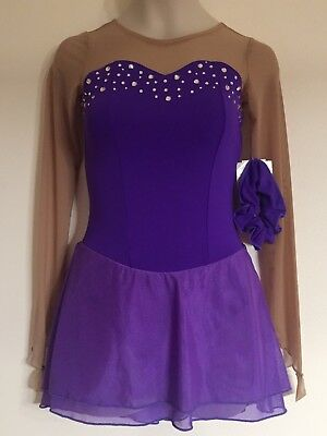 NWT Figure Skating Competition Dress Child L Ice Skate Chloe Noel New Crystals