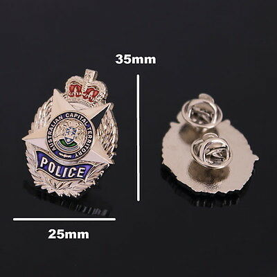 Australian Capital Territory Police Badge Style Pin (social)