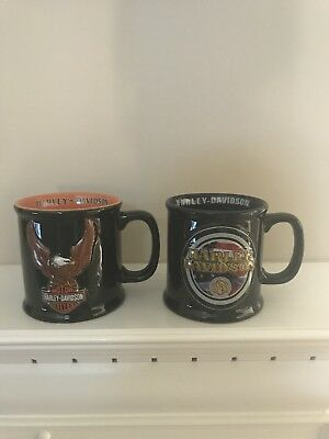 ***New Lot Of 2 Harley Davidson Coffee Cups