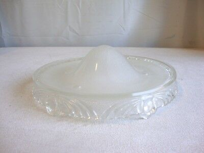 """Vintage Victorian Art Deco 10"""" Hanging 3-Chain Light Shade Clear Glass"""