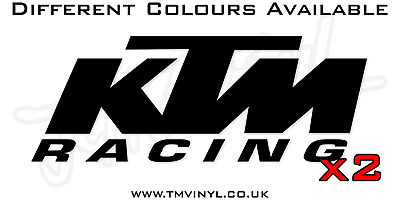 2 X Enduro Mx Motocross Ktm Racing Logo Stickers - Different Colours Available